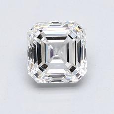 1.20-Carat Asscher Diamond Very Good F VS1