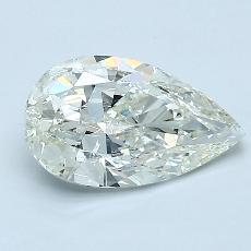 1.03-Carat Pear Diamond Very Good K SI2