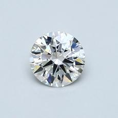0.50-Carat Round Diamond Ideal G VVS2