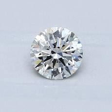 0.50-Carat Round Diamond Ideal H VS2
