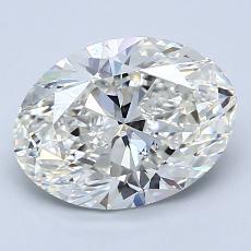 2.00 Carat 椭圆形 Diamond 非常好 I SI1