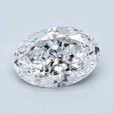 1.20 Carat 椭圆形 Diamond 非常好 D VVS2