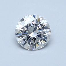 0.62-Carat Round Diamond Ideal H SI1