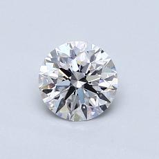 0.60 Carat 圆形 Diamond 理想 D VS2