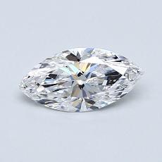 推薦鑽石 #4: 0.52 克拉欖尖形切割