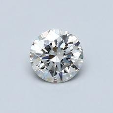 0.50-Carat Round Diamond Ideal H VS2