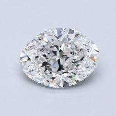 1.01-Carat Oval Diamond Very Good D VVS1