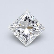 0.90-Carat Princess Diamond Very Good F VVS1