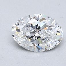 1.02 Carat 橢圓形 Diamond 非常好 D VS1