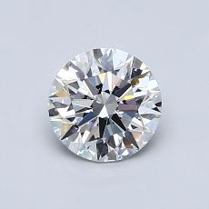 0,75-Carat Round Diamond Ideal E IF
