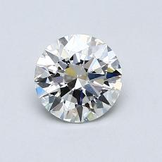 0,75-Carat Round Diamond Ideal H VS1