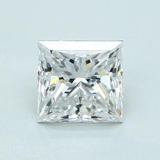 Pierre recommandée n°3: Diamant taille princesse 1,10 carat