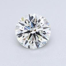 0.78 Carat 圓形 Diamond 理想 H VVS2