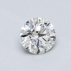 0.70 Carat 圓形 Diamond 理想 I VS2