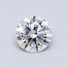 0.72 Carat 圓形 Diamond 理想 E VVS2