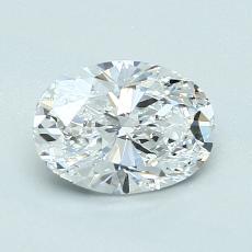 推薦鑽石 #1: 1.03  克拉橢圓形切割