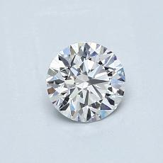 0,51 Carat Rond Diamond Idéale E IF