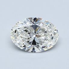 0.81-Carat Oval Diamond Very Good H VS1