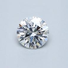 0,50-Carat Round Diamond Ideal E SI1