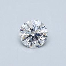 0.32 Carat 圓形 Diamond 理想 E SI1