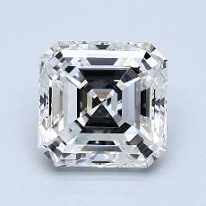 2,01-Carat Asscher Diamond Very Good H VS1