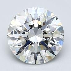 2,01-Carat Round Diamond Ideal H VS1