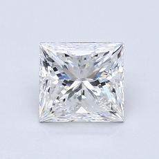 Pierre recommandée n°1: Diamant taille princesse 0,90 carat