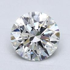 1.70-Carat Round Diamond Ideal E VS1