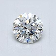 0,80 Carat Rond Diamond Idéale F VS1