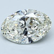推薦鑽石 #2: 3.00  克拉橢圓形切割