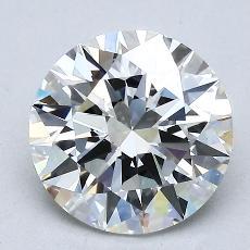 2.02-Carat Round Diamond Ideal I VS1
