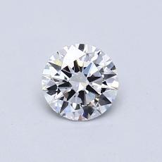 0.50 Carat 圆形 Diamond 理想 E IF