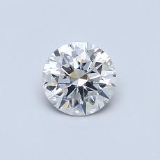 0.50 Carat 圆形 Diamond 理想 G SI1