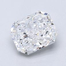 1.61-Carat Radiant Diamond Very Good D VVS1