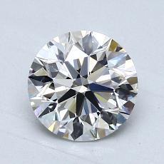 1.25-Carat Round Diamond Ideal G VVS1