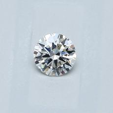 0.23-Carat Round Diamond Ideal E VS2