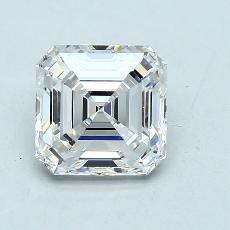 2,08 Carat Asscher Diamond Très bonne F VVS2