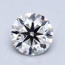 1.00 Carat 圓形 Diamond 非常好 F VVS2