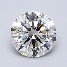 1.50 Carat 圓形 Diamond 理想 H VVS2