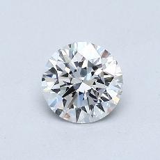 0.50 Carat Redondo Diamond Ideal D VVS1