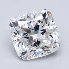 2.02-Carat Cushion Diamond Very Good F VVS2