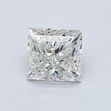 1.00 Carat 公主方形 Diamond 非常好 I VVS2