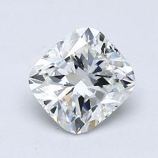1.00-Carat Cushion Diamond Very Good G VVS1