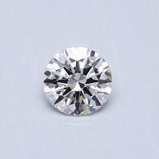 0.30-Carat Round Diamond Ideal D VVS1