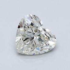 1.00-Carat Heart Diamond Very Good J SI2
