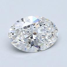 推薦鑽石 #4: 1.05  克拉橢圓形切割