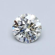 Pierre actuelle: Taille ronde, 0,70carats