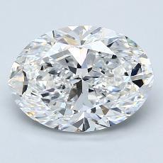 Piedra recomendada 1: Talla ovalada de 2.50 quilates