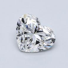 Piedra recomendada 2: Forma de corazón de 1.00 quilates
