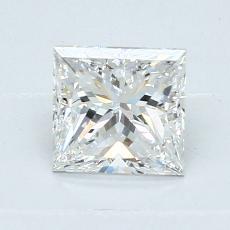 推薦鑽石 #4: 1.02 克拉公主方形切割